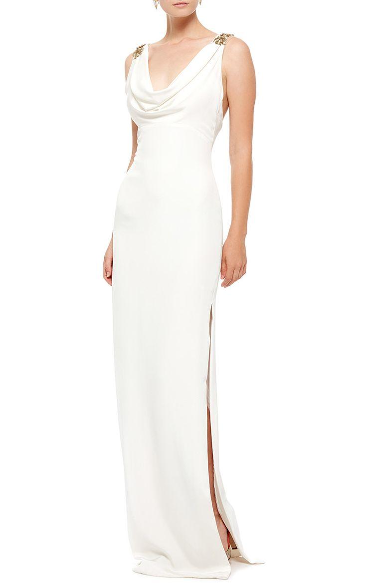 Cristina Ottaviano Sleeveless Cowl Neck Gown - Preorder now on Moda Operandi