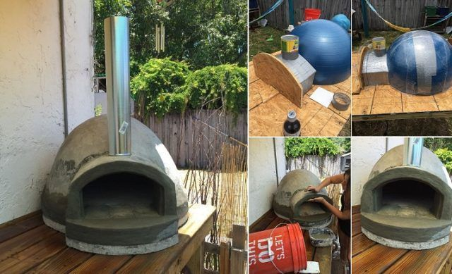 Wood fired Pizza Oven made with an exercise ball for $135 - http://eradaily.com/wood-fired-pizza-oven-made-exercise-ball-135/