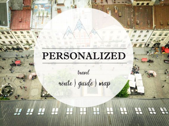 Personalized travel map to 4-7 days Individual tourist route Personalized gift CUSTOM travel map TRAVEL Guide for rest Gift for traveler