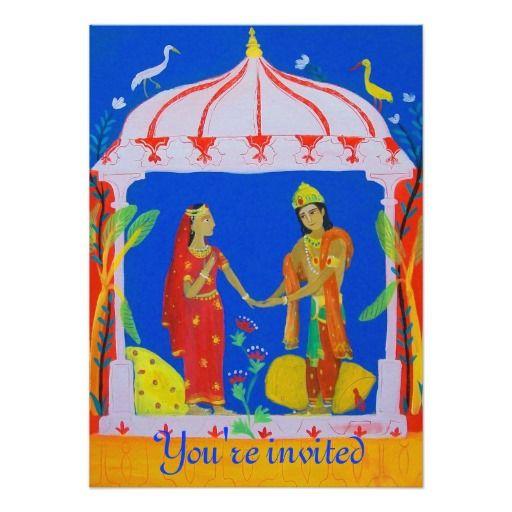 elegant indian royal wedding party invitation