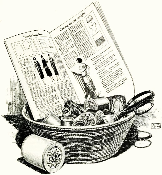 A basketful of vintage sewing notion and pattern fun! #vintage #1920s #sewing