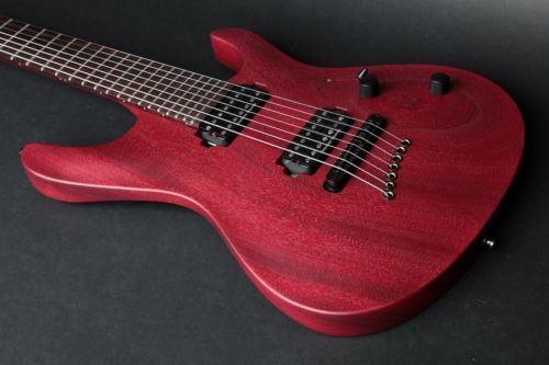 Mayones Setius M7 7-string Transparent Cherry Solid Mahogany Body Seymour Duncan - http://www.7stringguitar.org/for-sale/mayones-setius-m7-7-string-transparent-cherry-solid-mahogany-body-seymour-duncan/23697/