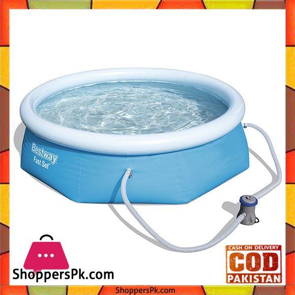 Buy Bestway Fast Set Swimming Pool 8 Feet X 26 Inch 57268 At Best Price In Pakistan Bestway Swimming Pools Pool