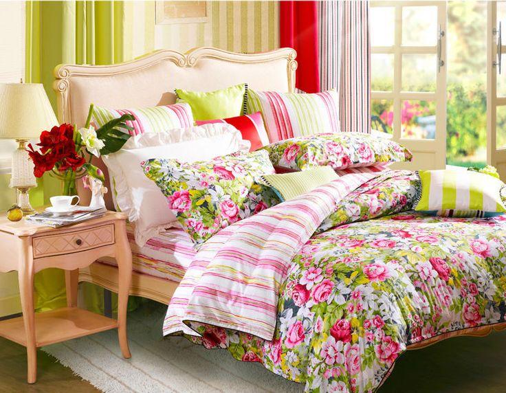 Conjuntos de cama cachecol flor cama king size queen size de capa de edredon lençol fronha roupa de cama grátis frete em Roupas de cama de Casa & jardim no AliExpress.com | Alibaba Group