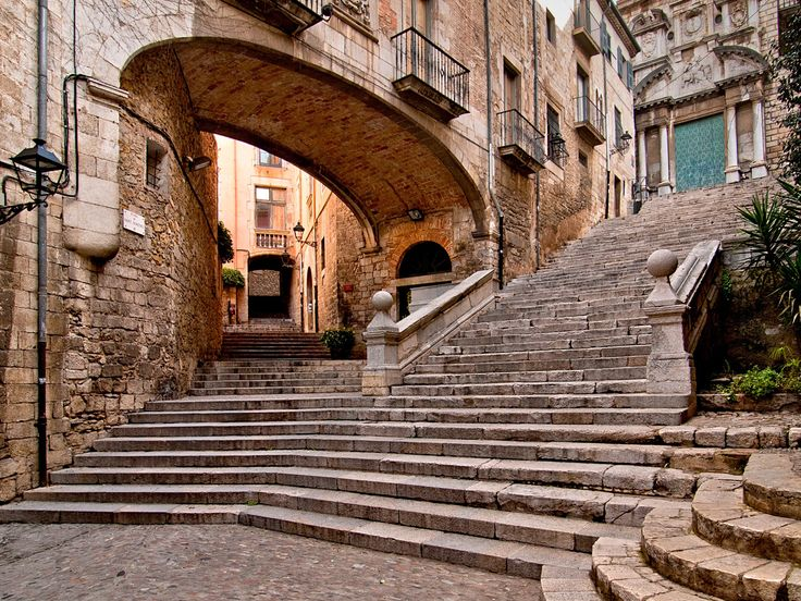 Girona, Spain Girona and its winding streets came front and center in season six, as the location of Arya's (blind!) battle training