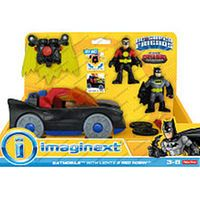 Fisher-Price Imaginext DC Super Friends Batmobile with Lights and Red Robin Play Set