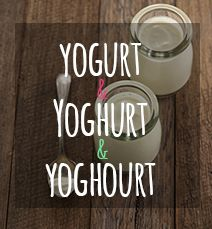 It's all about the yog[h(o)]urt!