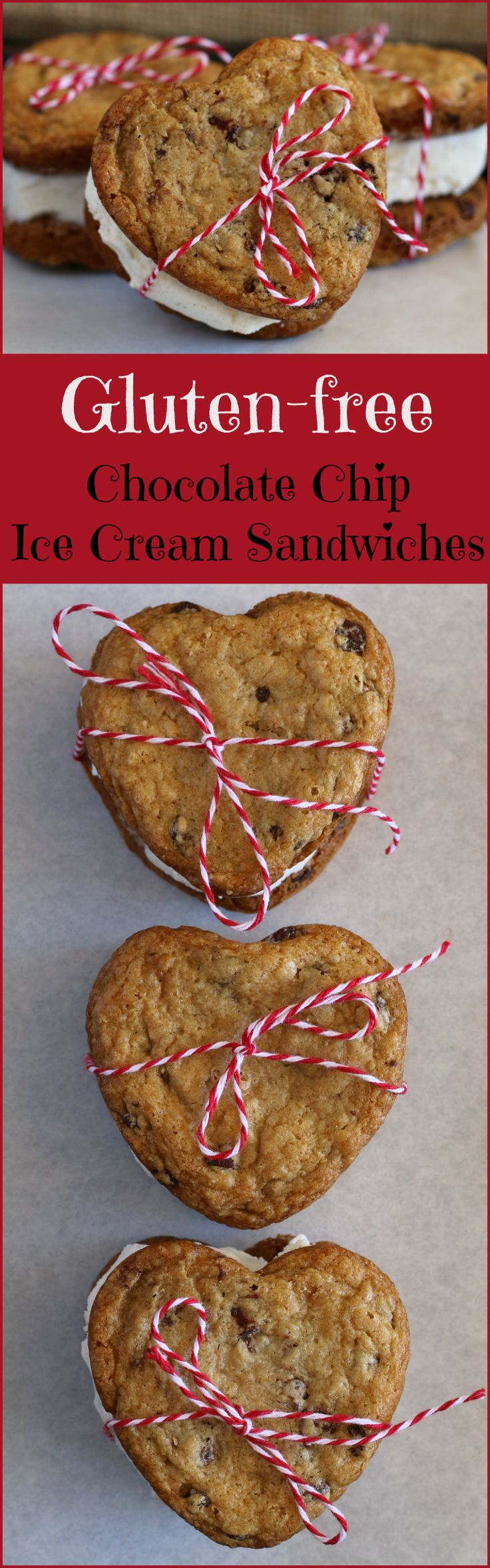 Gluten-free Chocolate Chip Ice Cream Sandwiches for Valentine's Day