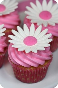 Pretty cupcake. Maybe for birthday party.