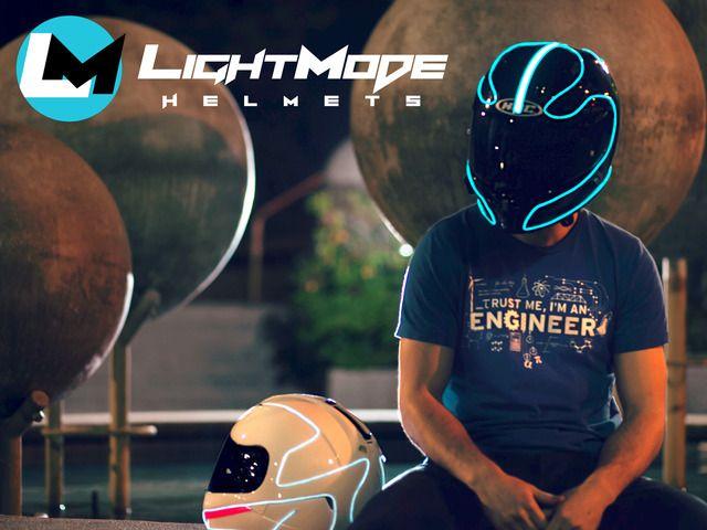 LightMode - Electroluminescent Motorcycle Helmets by Thomas Plywaczewski — Kickstarter