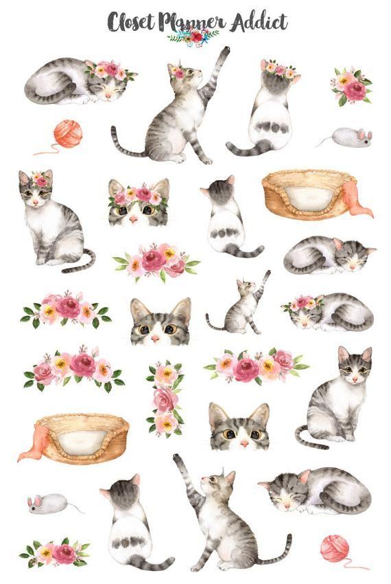TABBY CAT CAT CRAFT STICKERS SCRAP BOOKING CARD CRAFT ETC