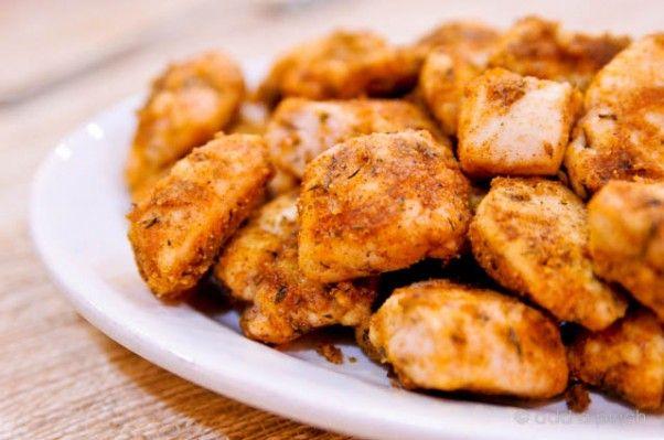 Csirkefalatkák a sütőből, fincsi és kellemesen fűszeres!
