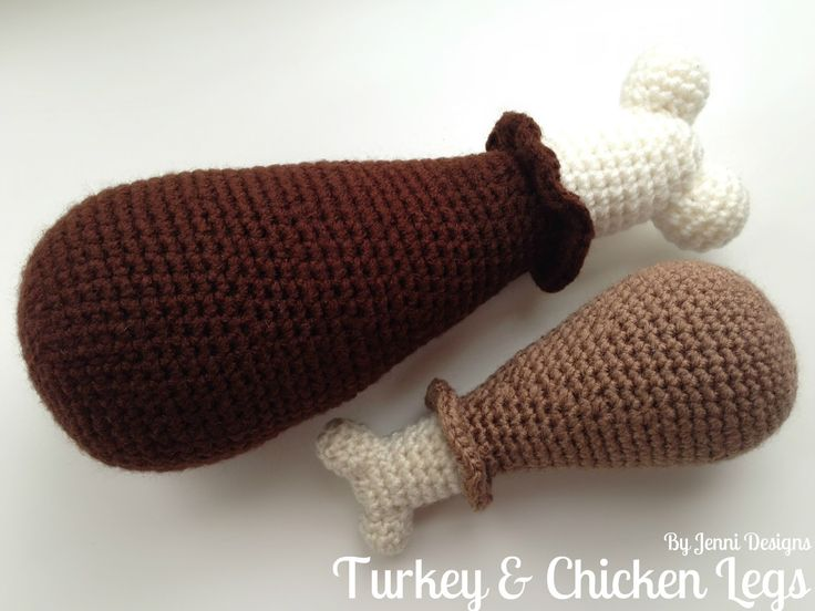 Free Crochet Amigurumi Pattern: Turkey & Chicken Legs