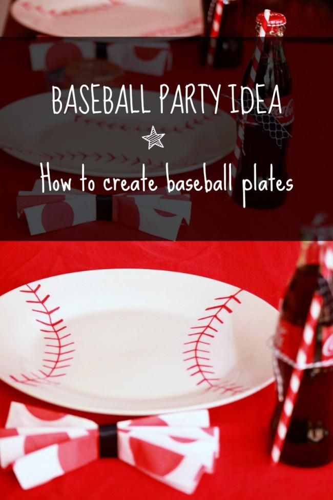 How to Create Your Own Baseball Plates {Baseball Party Idea} | Spaceships and Laser Beams