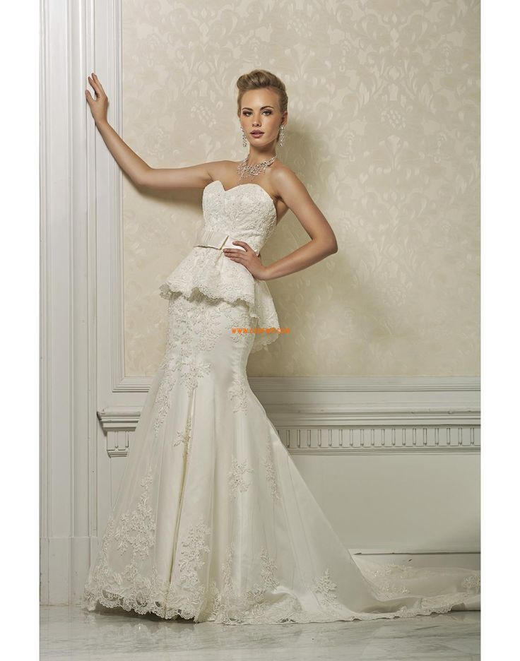 Áčkový střih Délka dvorní Bez rukávů Svatební šaty 2014