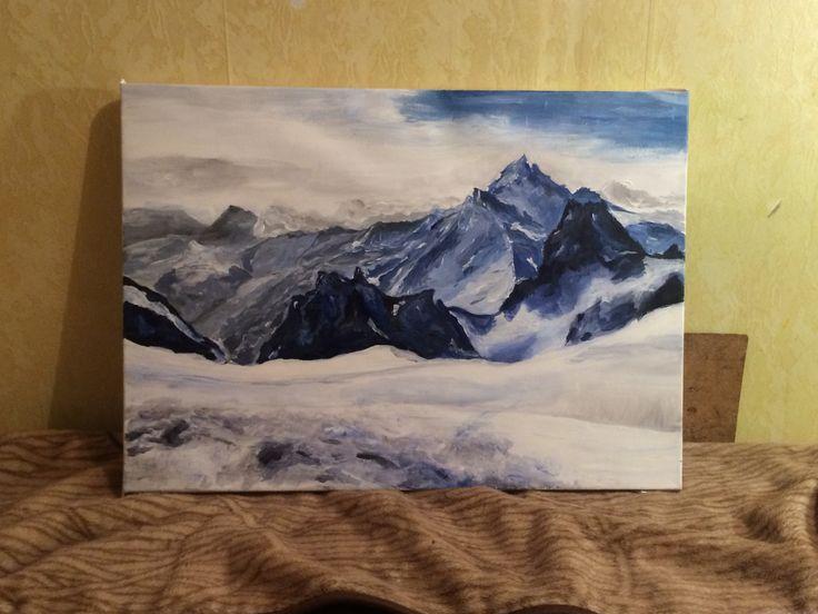 Снежные горы. Пейзаж