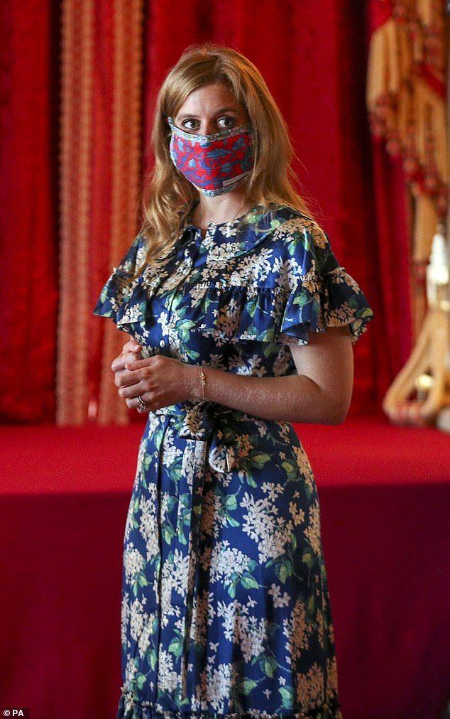 Princess Beatrice's wedding dress on display at Windsor