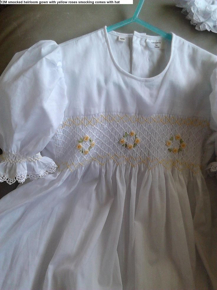 new smocked cotton gowns heirloom 0427820744