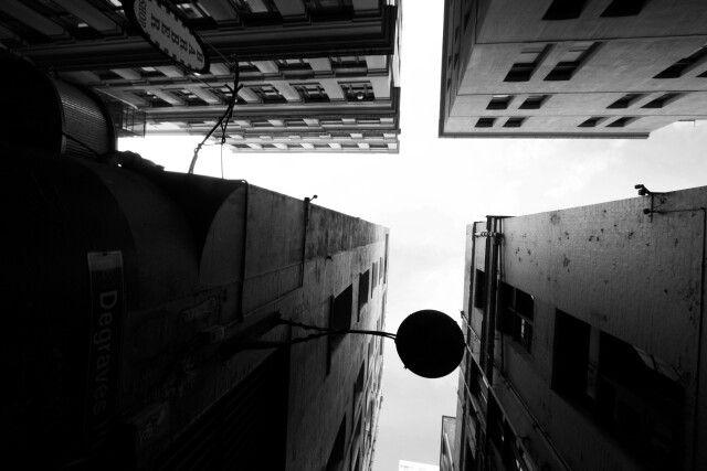 Black and white photography graffiti city