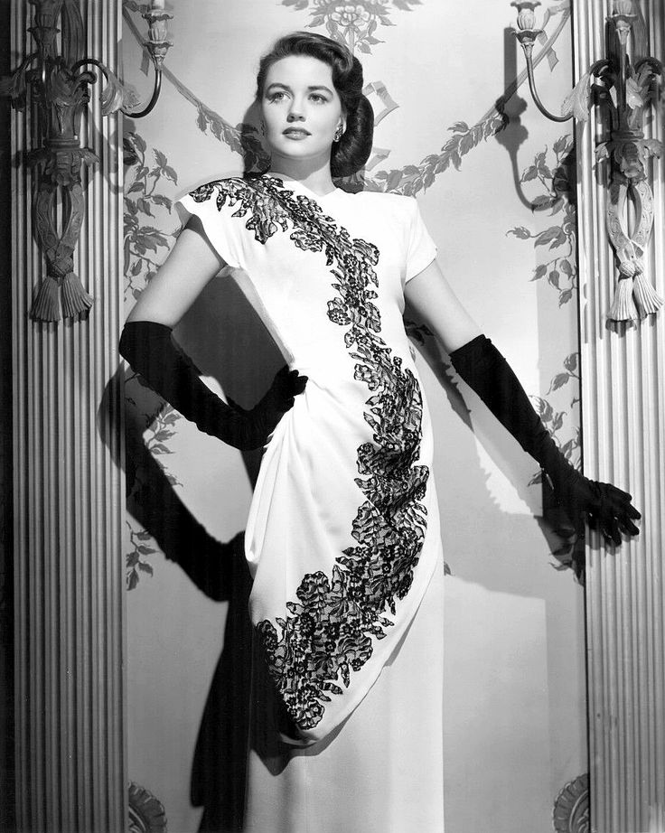 """Dorothy Malone in an Orry-Kelly gown, 1946 She started in films in 1943 and made her last film in 1992, Basic Instinct. She is one of the few surviving stars of Classic Hollywood. """"I acted three times with Fred MacMurray, three times with Martin and..."""