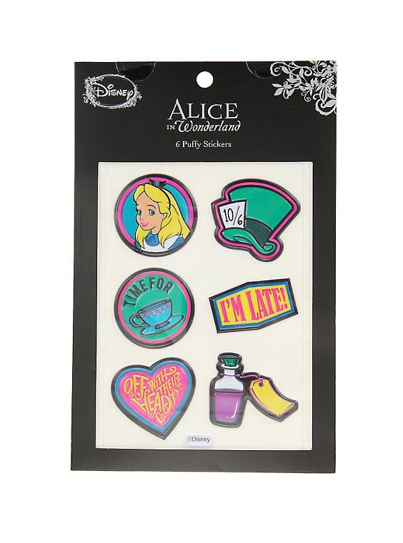 Loungefly alice in wonderland puffy sticker pack