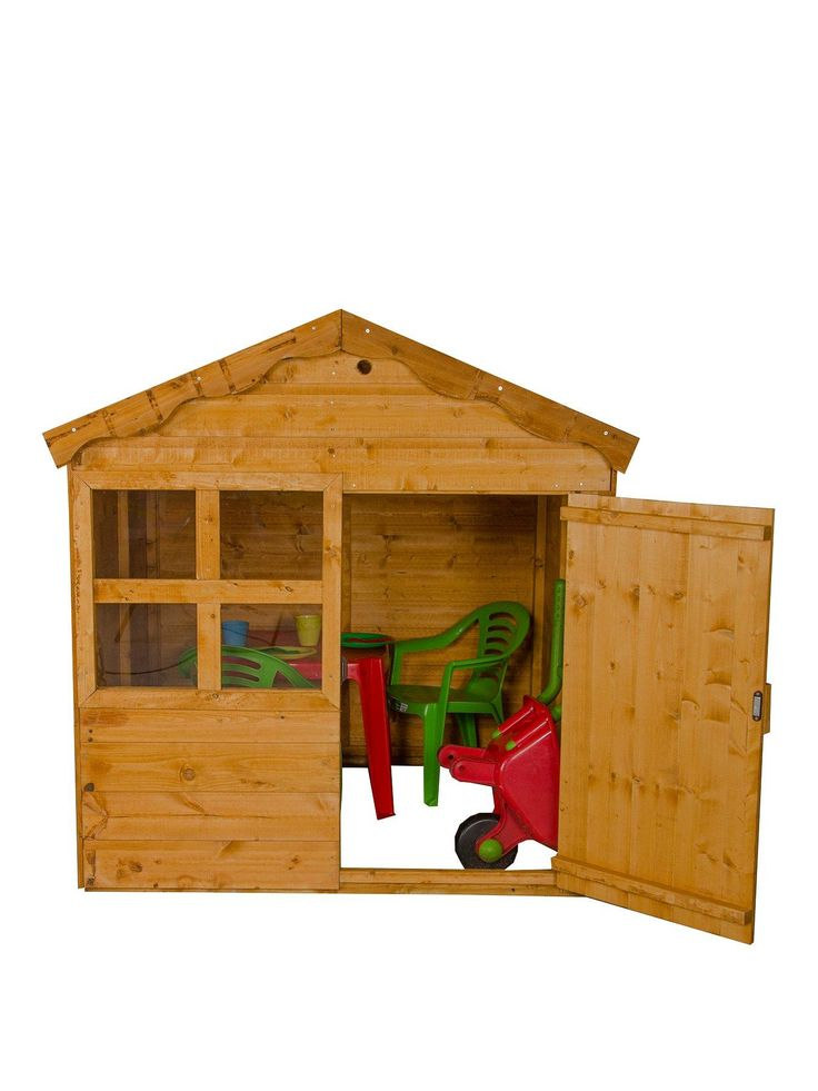 Let the kids run free in this Forest 4'x4' Wooden Playhouse! Offering great value for money, this cute wooden playhouse features a felted roof, a working door and a peeping window. It's also treated against rot for 10 years, so that your youngsters can enjoy hours of outdoor play again and again.The pencil rounded framing means that this playhouse is finger smooth to touch, so there's no need to worry about splinters either. It's ideal for compact gardens, or even as a han...