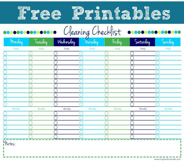 91 best images about CLEANING PRINTABLES – House Cleaning Checklist Template