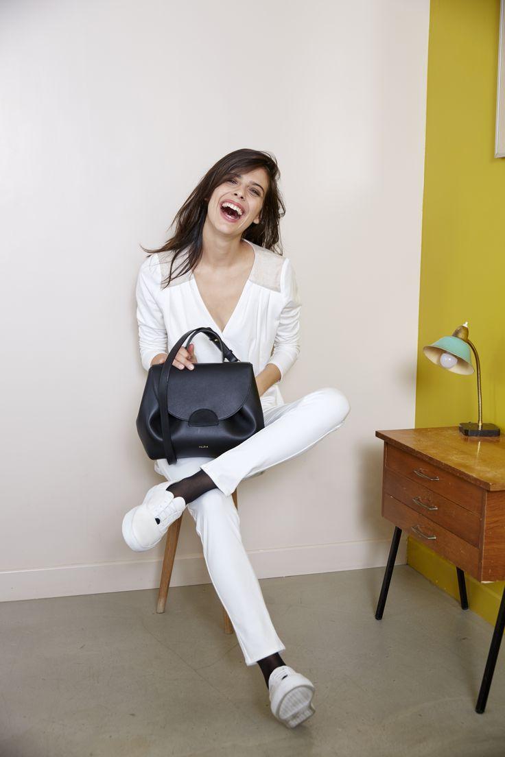 Numéro Un - Édition Monochrome Noir - 290€ www.polene-paris.com #handbag #fashionstyle #newbrand #parisianstyle #bagaddict #fashionista