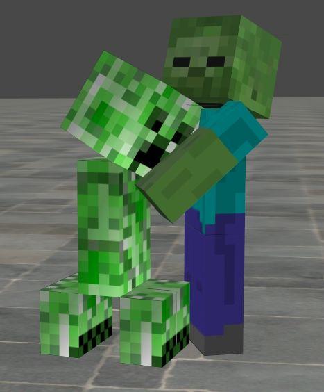 17 best images about minecraft on pinterest minecraft - Minecraft zombie vs creeper ...