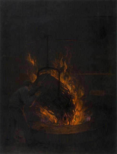 Het vullen met houtskool   Heijenbrock