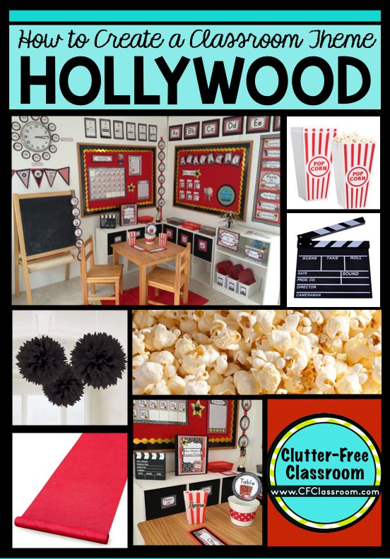 Hollywood Themed Classroom - Ideas & Printable Classroom Decorations | Clutter-Free Classroom | Bloglovin'