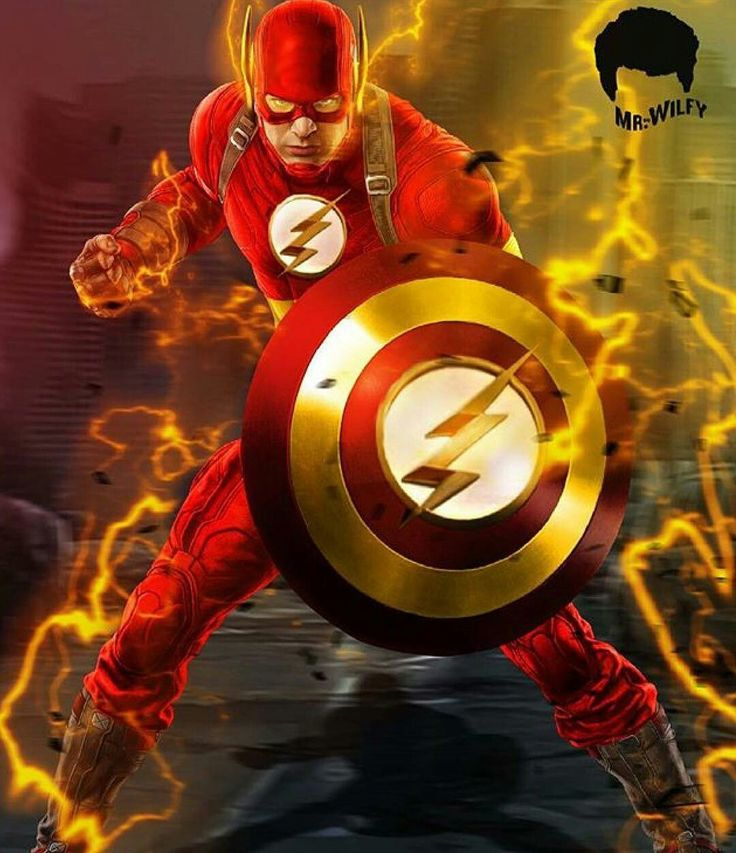 Captain Flash, a Mashup of Captain America and the Flash