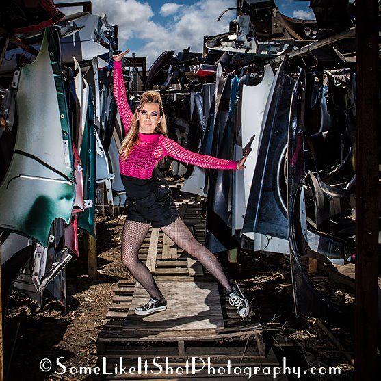 Wrecking Yards Tacoma Wa : Hot pink modern dancer in a junk yard seattle tacoma