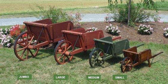 Our authentic wooden wheelbarrows are built with traditional craftsmanship from a late 1800's Lancaster County, Pennsylvania pattern. Description from amishshop.com. I searched for this on bing.com/images