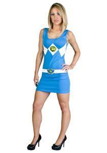 Power Ranger Blue Tank Dress Adult Womens Costume #halloween #halloweenlife365 #easycostumes #halloweencostumes #powerrangers #blueranger
