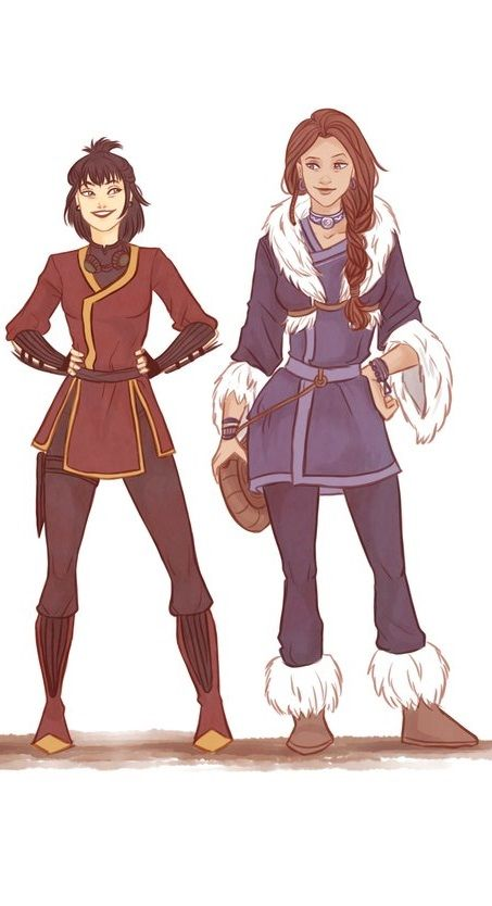 Tikaani and Fire Nation Girl<<don't ask me who that is, I dunno, that's what it said when I pinned it