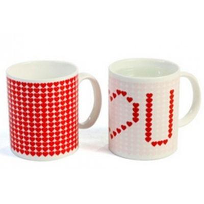 """Zaskakujący kubek """"I <3 U""""/ Magic mug"""