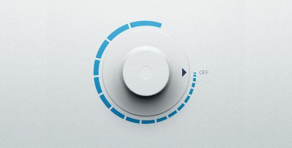 Colourful volume knob | Ui Parade | User Interface Design Inspiration
