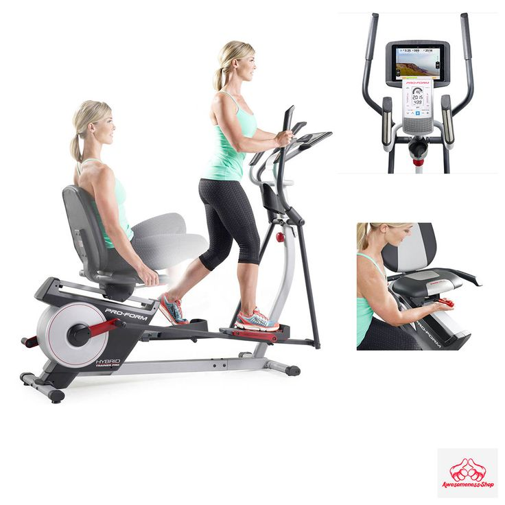 FITNESS EQUIPMENT ELLIPTICAL RECUMBENT BIKE Exercise Workout Trainer Home Gym  sc 1 st  Pinterest : reclining elliptical machines - islam-shia.org