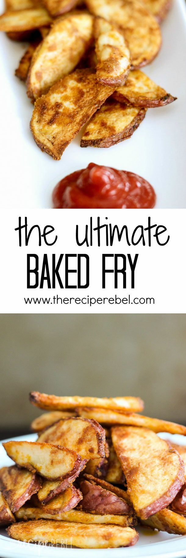 The Ultimate Baked Fry: Perfectly crispy oven-baked fries every time! It's the ultimate baking method + seasoning blend that makes these the best oven fries you've ever had! www.thereciperebel.com