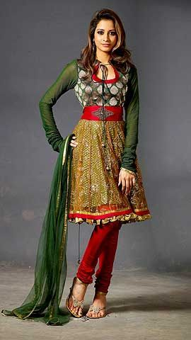 @MadhuraHNaik Multi-Color Churidar Suit