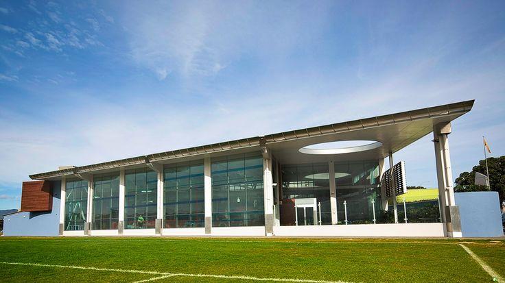 Wellington Regional Aquatic Centre designed by Architecture HDT New Zealand.  http://architecturehdt.co.nz/pools/