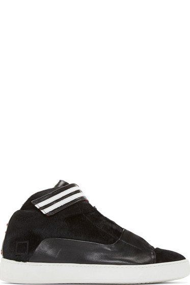 Giuliano Fujiwara - Black Calfhair High Top Date Edition Sneakers