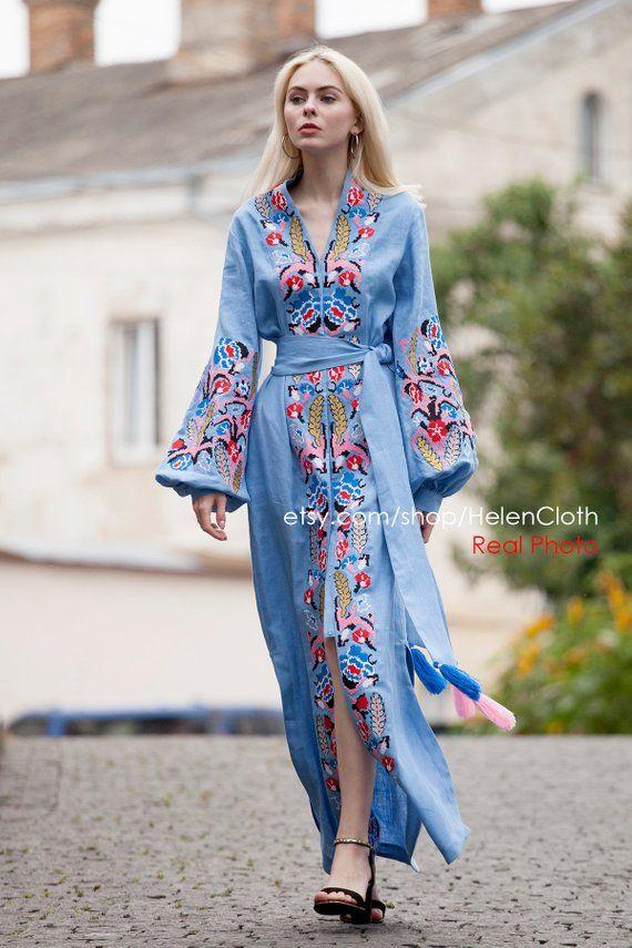 Linen kaftan women LINEN KAFTAN Womens kaftan dress Plus size dress Long Kaftan Maxi Boho dress Linen maxi dress splits Linen caftan