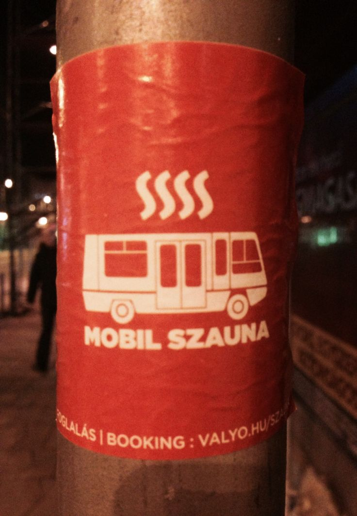 Sauna on the go! Budapest street art in an A6 format.