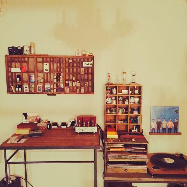 Honokaさんの、賃貸,勉強机,真空管アンプ,机,のお部屋写真