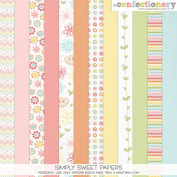SHCO Confectionery - PU - Paper Packs - Simply Sweet Papers {PU} --EXCLUSIVE-- Join at http://www.sugarhillco.com/cc