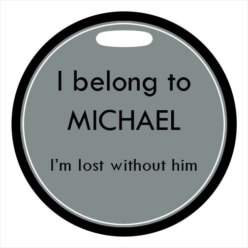 """Strangely co-dependent """"I Belong To..."""" Luggage Tags. #travel #gift"""