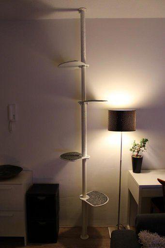 Cat tower from IkeaHackers.net, great idea and http://www.stadsduif.com/billy-the-kit/cat-hack-krab-en-klimpaal/