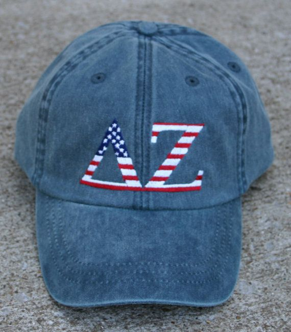 Delta Zeta American Flag Cap by hyunich on Etsy- I neeeeeed it